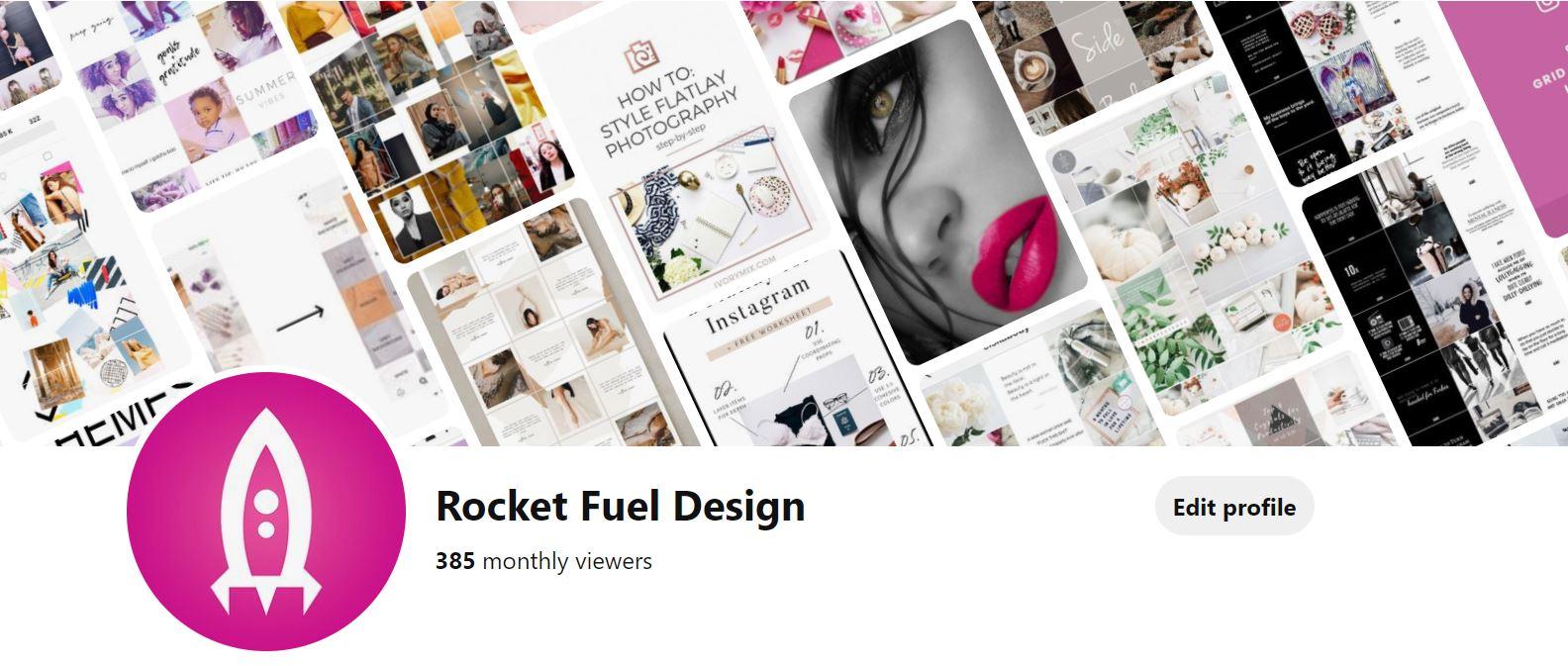 Rocket Fuel Design's Pinterest Profile Page