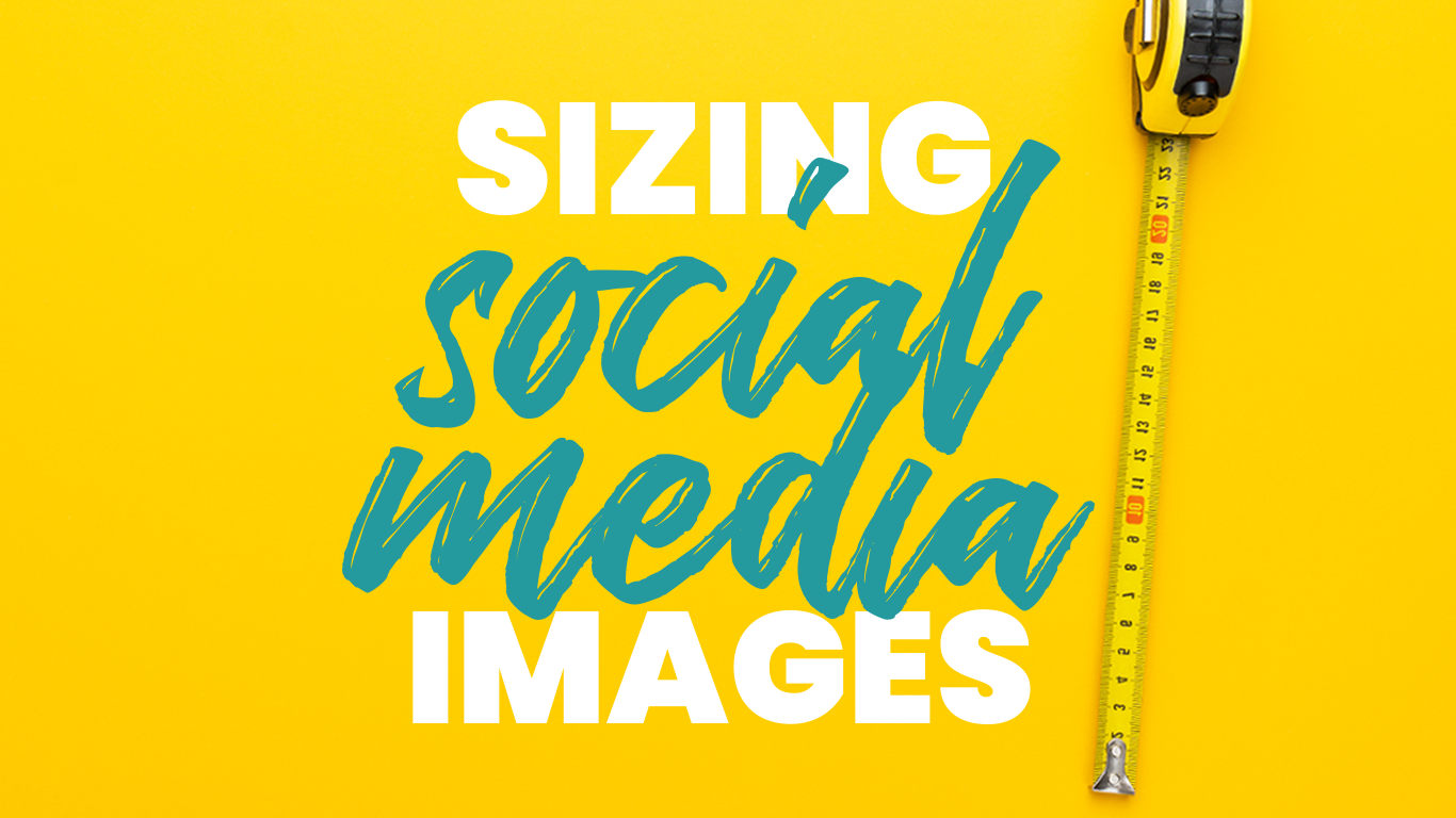 Sizing social media text with a yellow tape measure