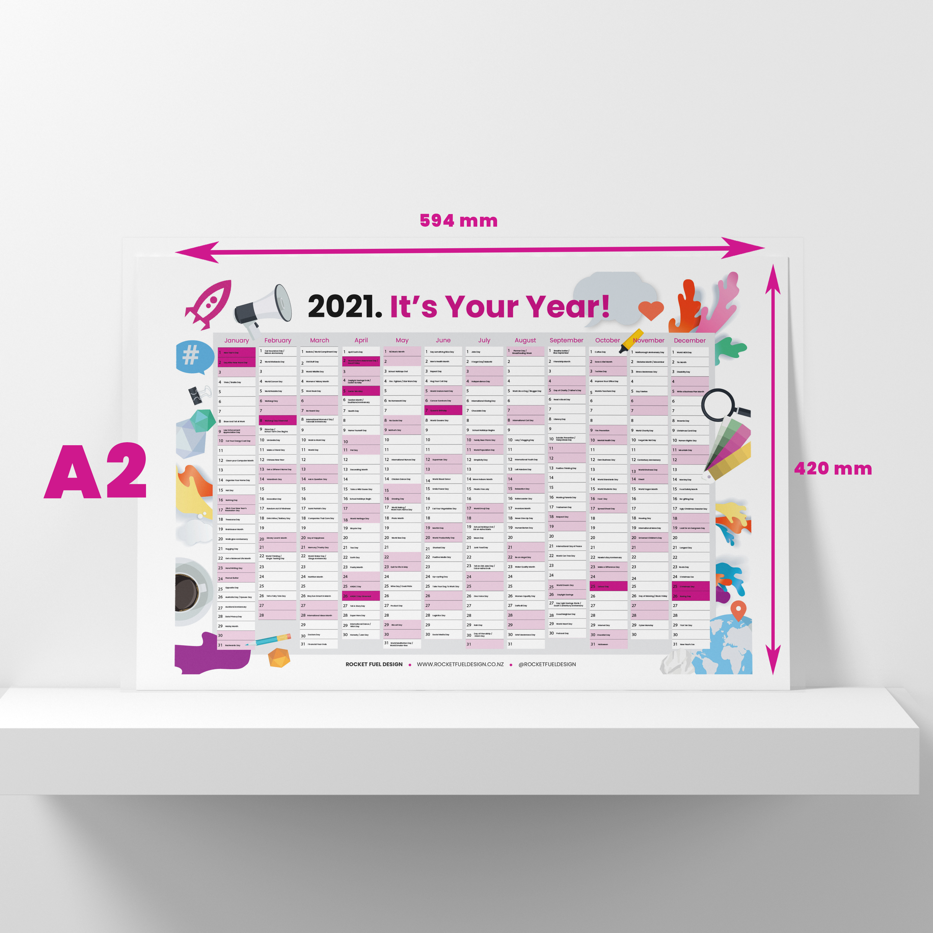 RFD Wall Planner 2021 - Wall - Square