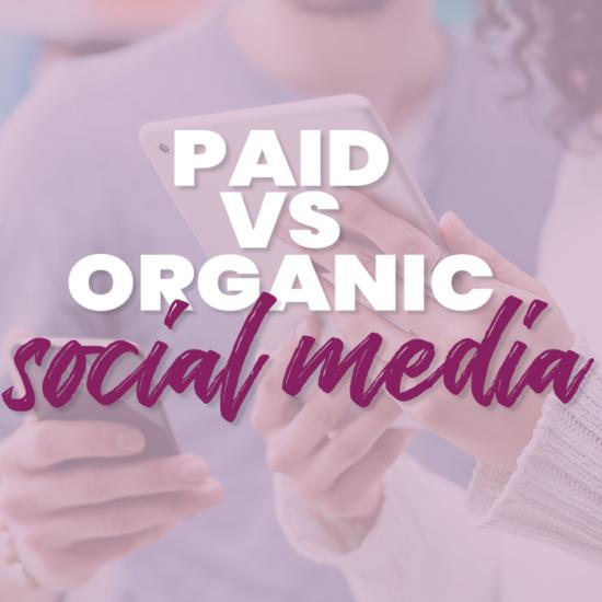 paid verse social media text
